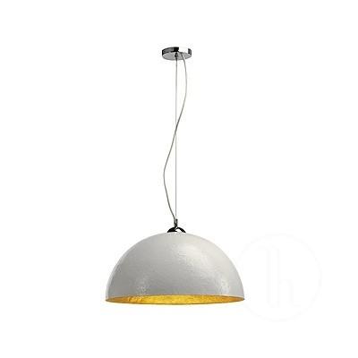 FORCHINI, lampa wisząca, PD-1, okrągła, biała/złota, E27, maks. 40 W -  Spotline 155531