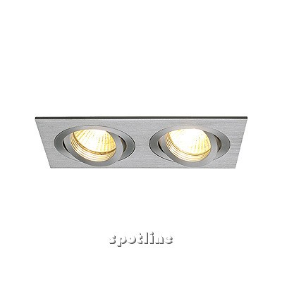 New Tria II GU10 downlight, prostokątna - Oprawa wpuszczana Spotline 111362