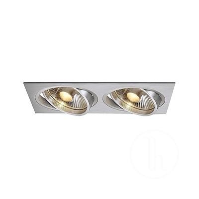 New Tria II ES111 downlight, prostokątna aluminium szczotkowane - Oprawa wpuszczana Spotline 111382