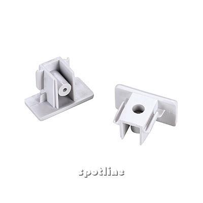 Końcówki do szyny 1 - fazowej, białe, 2 sztuki 143131 Spotline