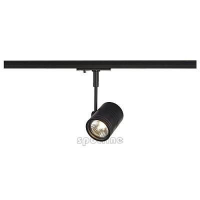 Bima 1 czarna z adapterem 1 fazowym 143440 -  Lampa do szyny 1 fazowowej Spotline