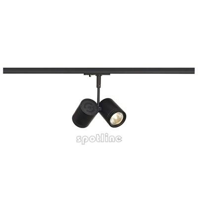 Bima 2 czarna z adapterem 1 fazowym 143430 -  Lampa do szyny 1 fazowowej Spotline