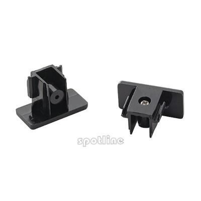 Końcówki do szyny 1 - fazowej, czarne, 2 sztuki 143130 Spotline