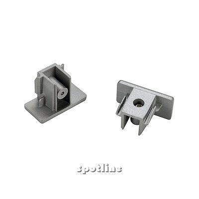 Końcówki do szyny 1 - fazowej, srebrnoszare , 2 sztuki 143132 Spotline