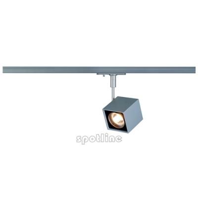 Altra Dice srebrnoszara z adapterem 1 fazowym 143354 -  Lampa do szyny 1 fazowej Spotline