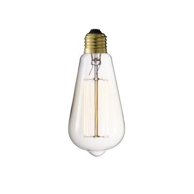 Żarówka dekoracyjna Straight ST64 40W E27 Edison  Cosmo Light