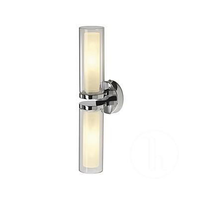 WL 106 E14, chrom, podwójne szkło, 2xE14, maks. 40 W Kinkiet łazienkowy 149492 Spotline