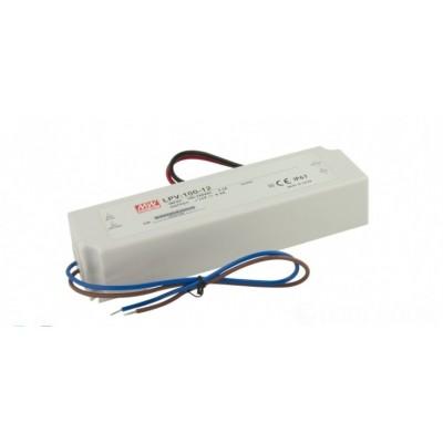 Zasilacz LED hermetyczny 12V DC 100W LPV-100  Mean Well