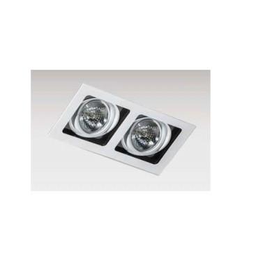 SISTO 2 WH/BK/WH WPUST - Oprawa wpuszczana Ar111, QR111 Azzardo GM2202 WH/BK/WH LAMPA