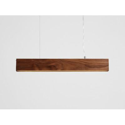 Lampa wisząca LINE PLUS L WOOD – orzech - Lampa wisząca LED  profil Customform