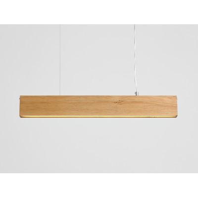 Lampa wisząca LINE PLUS L WOOD – dąb - Lampa wisząca LED  profil Customform