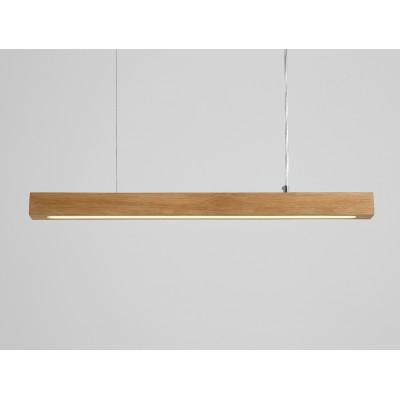Lampa wisząca LINE PLUS L WOOD LOW – dąb - Lampa wisząca LED  profil Customform