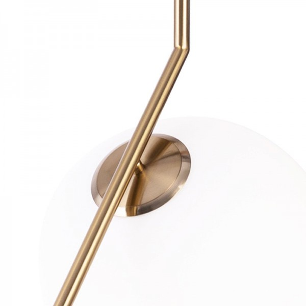 Lampa Wiszaca Solaris Bialo Mosiezna 30 Cm Step Into Design Lampa