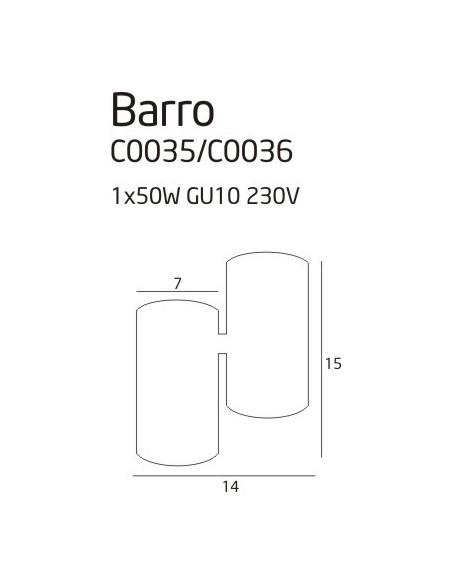 Barro - Lampa sufitowa biała Maxlight  C0036