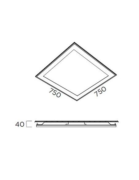 ATENEA PL-023/M Plafon 75x75cm LED Pujol Ilumination