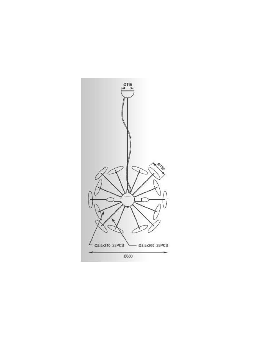 LAMPA WISZĄCA DOTS CZARNYZŁOTY TS 081111P BK ZUMA LINE