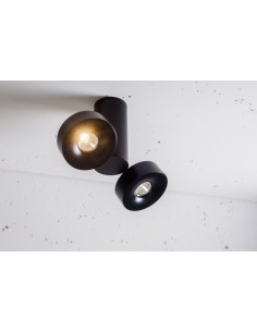 ROBOTIC R2 edge.LED 2x 12W On-Off LABRA 2.0717 biały czarny - Lampa sufitowa kierunkowa LED Reflektor