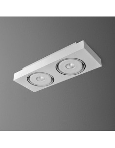 SLEEK distance 111x2 QRLED L8 LED WW natynkowy (3000K) - Lampa sufitowa Aquaform 40212L8-03