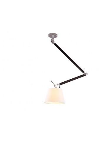 ZYTA M WHITE PENDANT - Lampa sufitowa na wysięgniku z ruchomym ramieniem Azzardo