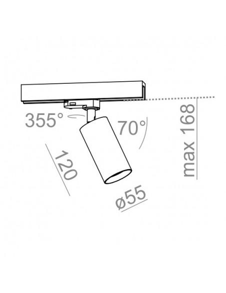 PET 230V Phase-Control track  - Lampa  do szynoprzewodu 3F Aquaform (12548-03)