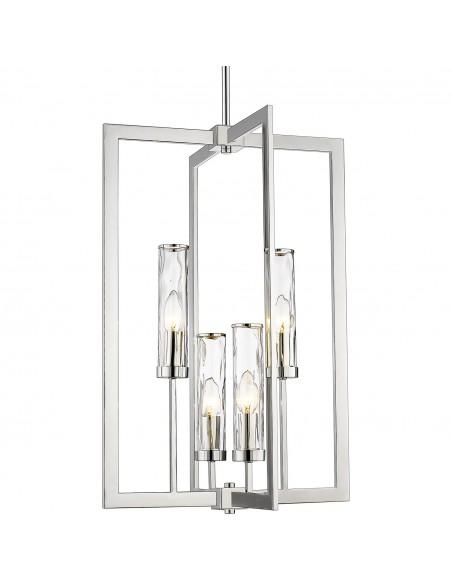 Lampa wisząca OXFORD P04052NI - lampa industrialna żyrandol  Cosmo Light