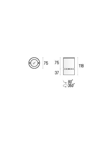 GEIT MINI NT Labra 2.0312 - Reflektorek Lampa sufitowa owalna kierunkowa