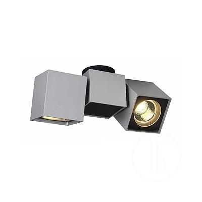 Altra dice II, srebrno - szara/czarna  - Lampa sufitowa lub kinkiet Spotline 151534