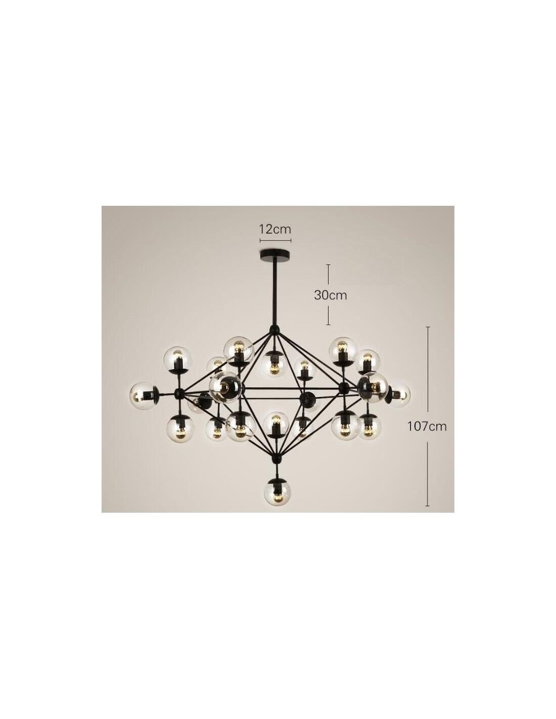 Lampa wisząca ASTRIFERO 21 bursztynowo czarna 110 cm Step