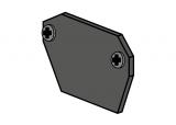 copy of ST MULTITRACK KOŃCÓWKA natynk/zwieszany czarna/biała Aqform MTEC3B-02 Szynoprzewód 48V Multitrack