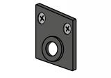 ST MULTITRACK KOŃCÓWKA Z OTWOREM POD KABEL natynkowy zwieszany czarna biała Aqform MTEC4B-02 Szynoprzewód 48V Multitrack