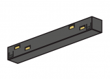 ST MULTITRACK ŁĄCZNIK PROSTY elektryczny uniwersal czarny  biały Aqform MTJU3B-02 Szynoprzewód 48V Multitrack