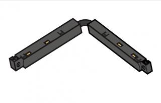 ST MULTITRACK ŁĄCZNIK GIĘTKI elektryczny uniwersal czarny biały Aqform MTRGB Szynoprzewód 48V Multitrack