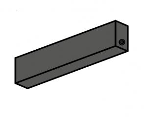 ST MULTITRACK PUSZKA ZASILAJĄCA Z ZASILACZEM 100W 48V natynk czarna Aqform 81023-B Szynoprzewód 48V Multitrack
