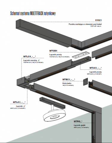 RAFTER points 6 LED multitrack Aqform 16350 - Lampa LED do szynoprzewodu Multitrack