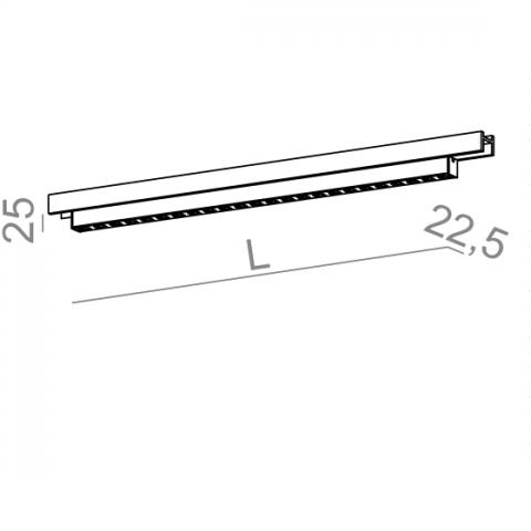 SET TRU mini points 28 LED multitrack Aqform 16379 - Lampa LED do szynoprzewodu Multitrack