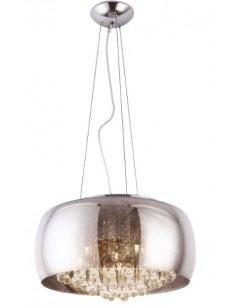 Moonlight P0076-06X lampa wisząca grey duża Maxlight szkło kryształki